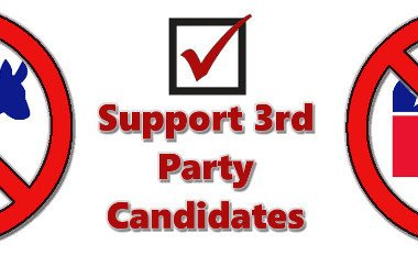Vote for 3rd party candidates - it can make a difference